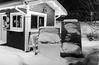 Night time Bayfield in the winter